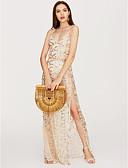 tanie Dresses For Date-Damskie Swing Sukienka - Solidne kolory W serek Asymetryczna / Szczupła