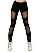 tanie Modna bielizna-Taniec latynoamerykański Legginsy i getry Damskie Szkolenie / Spektakl Elastyczny / Szarmeza Materiały łączone Wysoki Spodnie