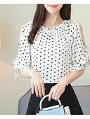 tanie Damskie płaszcze i trencze-bluzka damska - geometryczny / okrągły dekolt w jednolitym kolorze