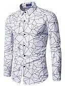 hesapli Erkek Tişörtleri ve Atletleri-Erkek Pamuklu İnce - Gömlek Desen, Solid İş Çalışma Siyah / Uzun Kollu