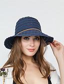 billige Hatter til damer-Dame Grunnleggende Stråhatt Ensfarget