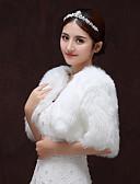 hesapli Gelin Şalları-Yarım Kol Suni Kürk Düğün / Parti / Gece Kadın Eşarpları İle Malzeme Kombini Boleros