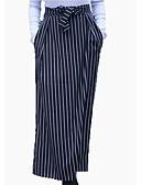 cheap Leggings-women's maxi pencil skirts - striped high waist