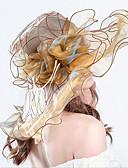 preiswerte Kopfbedeckungen für Damen-Damen Retro / Urlaub Fischerhut / Schlapphut / Sonnenhut - Rüsche / Gitter Solide / Blumen