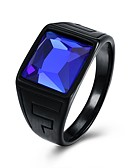 cheap Men's Shirts-Men's Vintage Style 3D Band Ring - Stainless Creative Vintage, Punk 9 / 10 Blue For Daily Street