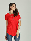 cheap Women's Tops-Suzanne Betro Women's Basic / Street chic T-shirt - Solid Colored Pleated