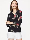 baratos Camisas Femininas-Mulheres Camisa Social Básico Estampado,Floral