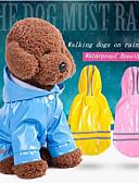 זול 2017ביקיני ובגדי ים-כלבים / חתולים מעיל גשם / ג'קט / רצועה מחזירת אור בגדים לכלבים אחיד / פסים אדום / ורוד / כחול בהיר עור PU תחפושות עבור חיות מחמד זכר עמיד למים / טרנדי