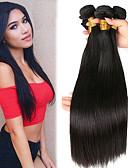 olcso Sweater Dresses-3 csomag Indiai haj / Afrikai zsinór Egyenes Kémiai anyagoktól mentes / nyers / Emberi haj Ajándékok / Az emberi haj sző / Tea parti ajándékok 8-28 hüvelyk Természetes szín Emberi haj sző Sima