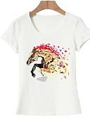 tanie T-shirt-T-shirt Damskie Podstawowy, Nadruk Bawełna Wyjściowe Zwierzę