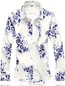 cheap Men's Underwear & Socks-Men's Plus Size Cotton Shirt - Floral / Long Sleeve