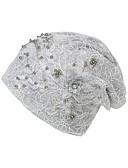 baratos Chapéus Femininos-Mulheres Básico / Férias Floppy - Com Miçangas / Com Transparência Floral