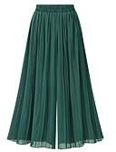 cheap Women's Dresses-Women's Basic Wide Leg Pants - Solid Colored Pleated / Mesh