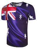abordables Camisetas y Tops de Hombre-Hombre Activo / Básico Estampado Camiseta Geométrico / Bloques