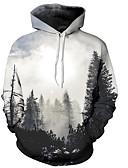 povoljno Muške jakne i kaputi-Muškarci Osnovni Hoodie - Print, 3D