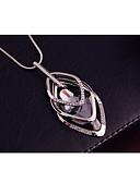 preiswerte T-Shirt-Damen Kubikzirkonia Stilvoll Prinz von Wales Pendant Halskette Lange Halskette Trinity-Halskette Harz Strass Kreativ damas Stilvoll Geometrisch Modisch Weiß 70 cm Modische Halsketten Schmuck 1pc Für