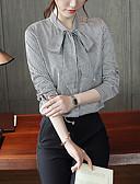 ieftine Bluze de Damă-Pentru femei În V Cămașă Muncă Carouri