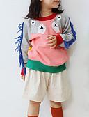 povoljno Džemperi i kardigani za bebe-Dijete koje je tek prohodalo Djevojčice Aktivan Print Dugih rukava Pamuk Džemper i kardigan Sive boje