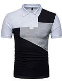 זול חולצות פולו לגברים-קולור בלוק צווארון חולצה ספורט מידות גדולות כותנה, Polo - בגדי ריקוד גברים / שרוולים קצרים