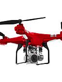 baratos Cachecol Feminino-RC Drone SH5HD 4CH 6 Eixos 2.4G Com Câmera HD 0.3MP Quadcópero com CR FPV / Retorno Com 1 Botão / Auto-Decolagem Quadcóptero RC / Controle Remoto / Câmera / Vôo Invertido 360° / Flutuar / Flutuar