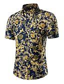 זול חולצות לגברים-גיאומטרי פעיל / סגנון רחוב חולצה - בגדי ריקוד גברים דפוס