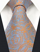 זול עניבות ועניבות פרפר לגברים-עניבת צווארון - גיאומטרי / קולור בלוק / סרוג מסיבה / עבודה בגדי ריקוד גברים