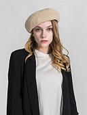 abordables Sombreros de mujer-Mujer Boina Francesa - Básico Un Color