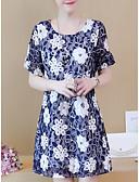 povoljno Dresses For Date-Žene Veći konfekcijski brojevi Hlače - Cvjetni print Print Plava