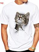 ieftine Maieu & Tricouri Bărbați-Bărbați Rotund Tricou Animal / Manșon scurt