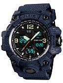 ieftine Ceas Sport-SKMEI Bărbați Ceas Sport Ceas Militar Japoneză Quartz Negru / Gri / Pool 50 m Alarmă Calendar Cronograf Analog - Digital Modă Plin de Culoare - Negru Gri Albastru Un an Durată de Viaţă Baterie