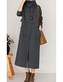 abordables Vestidos de Mujeres-Mujer Túnica Vestido Un Color Maxi