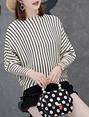ieftine Tricou-Pentru femei Manșon Lung Plover - Dungi