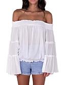 ieftine Bluză-Pentru femei De Pe Umăr Bluză Mată