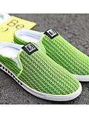 baratos Camisas Masculinas-Homens Sapatos Confortáveis Com Transparência Primavera & Outono Tamancos e Mules Branco / Branco e Preto / Branco e Verde