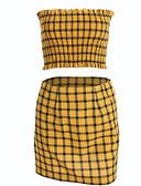 ieftine Bluze & Camisole Femei-Pentru femei Tank Tops - Plisat, Fustă