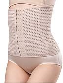 זול מחוכים ובוסטייה-בגדי ריקוד נשים קרס מחוך מתחת לחזה - אחיד, דפוס בלי בטנה שחור חום בז' XS S L / סקסית