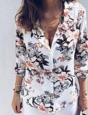 baratos Blusas Femininas-Mulheres Camisa Social Básico Floral