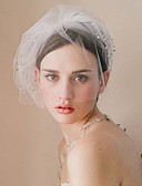 cheap Wedding Veils-One-tier Vintage Style / Classic Style Wedding Veil Blusher Veils with Sparkling Glitter / Solid Tulle