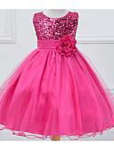 hesapli Elbiseler-Çocuklar Genç Kız Tatlı Solid Kolsuz Elbise Mor