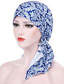 voordelige Dameshoeden-Dames Standaard Vakantie Katoen Rayon,Jacquard Floppy hoed-Zomer Alle seizoenen Klaver Marineblauw Regenboog