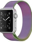 hesapli Saat Aksesuarları-Paslanmaz Çelik Watch Band kayış için Apple Watch Series 3 / 2 / 1 Mor 23cm / 9 inç 2.1cm / 0.83 İnç