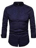 tanie Męskie koszule-Koszula Męskie Praca Szczupła - Solidne kolory / Długi rękaw