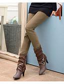 preiswerte Damen Leggings-Damen Alltag Grundlegend Legging - Solide Mittlere Taillenlinie