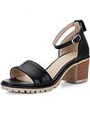 ieftine Regina Vintage-Pentru femei Pantofi de confort PU Primăvară Sandale Toc Îndesat Negru / Bej / Roz