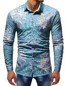 זול חולצות לגברים-קולור בלוק בסיסי חולצה - בגדי ריקוד גברים דפוס