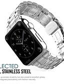 رخيصةأون هدايا سلاسل مفاتيح للحضور-ستانلس ستيل حزام حزام إلى Apple Watch Series 3 / 2 / 1 أسود / فضة / ذهبي 23CM / 9 بوصة 2.1cm / 0.83 Inches