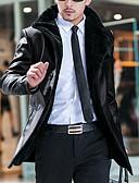 povoljno Muške jakne i kaputi-Jakna Dug Muškarci Jednobojni Umjetno krzno / Dugih rukava