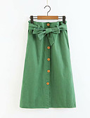cheap Women's Scarves-Women's Cotton Bodycon Skirts - Solid Colored