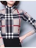 cheap Women's Blouses-women's going out slim t-shirt - color block turtleneck