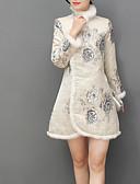 tanie Romantyczna koronka-Damskie Podstawowy Bawełna Szczupła Spodnie - Geometric Shape Patchwork / Nadruk Beżowy / Golf / Seksowny